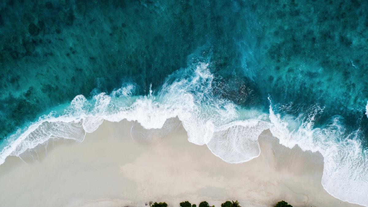 Ocean wave breaking on beach, Shifaaz Shamoon, Unsplash